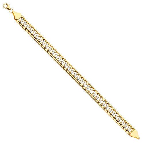 14K 2Tone Fancy Bracelet