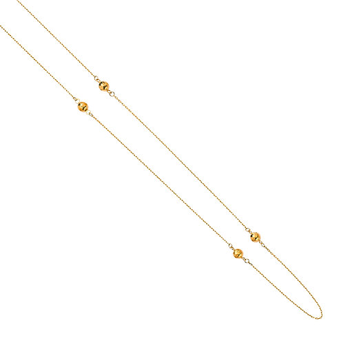 14K yellow Gold Light Fancy Chain Necklace