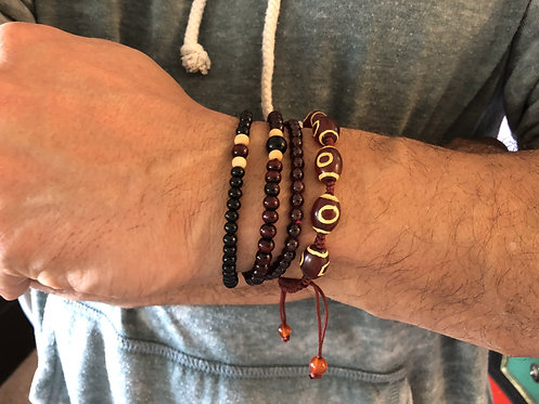 Seeds and Wood Bracelet