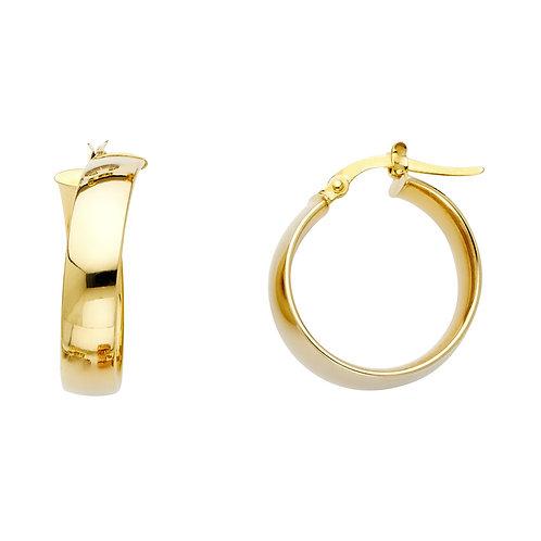 14K Yellow 6mm Hoop Earrings