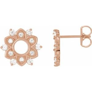 14K Rose 1/3 CTW Diamond Earrings