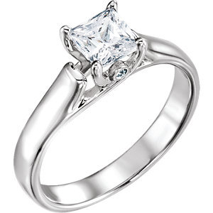 **10K White 1/4 CTW Diamond Engagement Ring