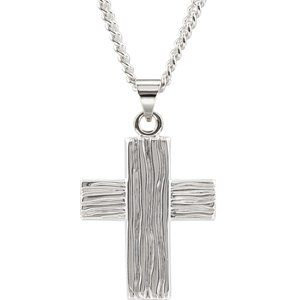 Sterling Silver 13x10 mm The Rugged Cross® Pendant