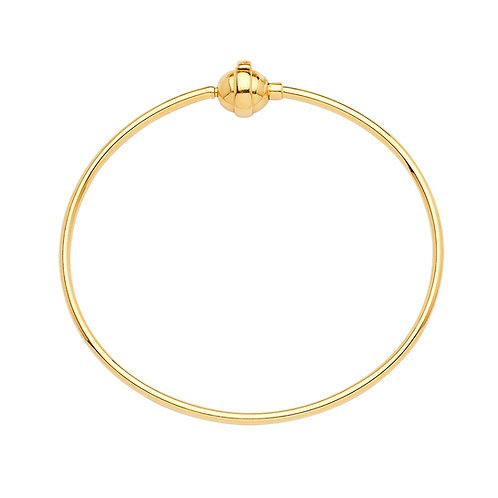 14KY Hollow Bangle for Mix & Match  - 6.5