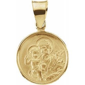 18K Yellow 12 mm St. Joseph Medal
