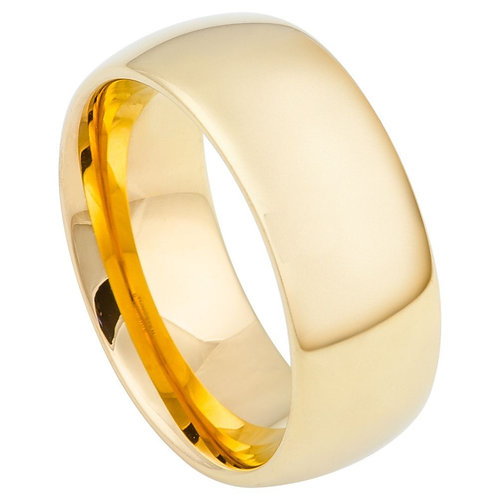 Domed Gold-Plated Shiny Polish - 9mm