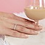 Thumbnail: 925 Rhodium Plated Micro Pave CZ Ring