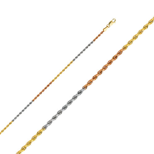 14K 3C Solid Rope 2mm DC 20