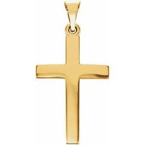 14K Yellow 20x13.7 mm Cross Pendant
