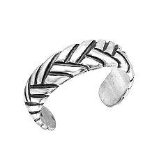925 Braided Adjustable Toe Ring