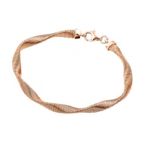 925 Gold Plated Mesh Twisted Italian Bracelet