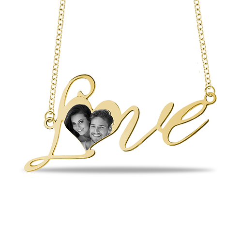 PICTURE LOVE NAME NECKLACE