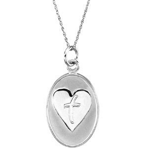 Sterling Silver Loss of a Father Pendant