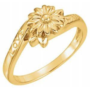 14K Yellow Love Waits Chastity Ring