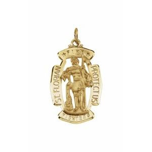 14K Yellow 30x20 mm St. Florian Medal