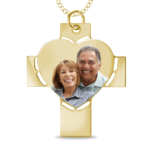 CROSS PHOTO PENDANT