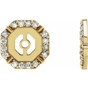 14K Yellow 1/6 CTW Diamond Earring Jackets