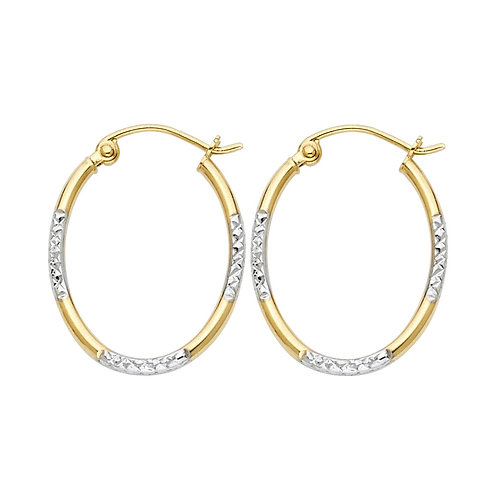 14K 2T DC RD TUBE OVAL HOOP (16X20MM)
