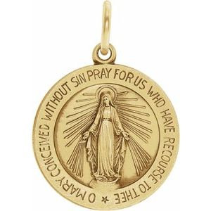 18K Yellow 22 mm Miraculous Medal