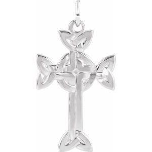 Sterling Silver 31.25x20 mm Celtic-Inspired Cross Pendant