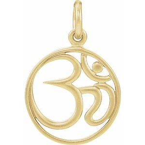Sterling Silver Plated with 24K Gold Om Charm