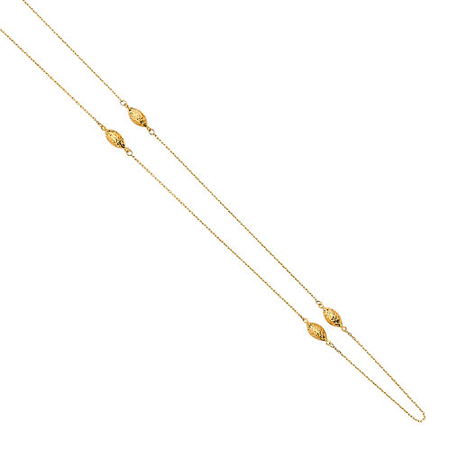 14K Gold Light Fancy Chain Necklace
