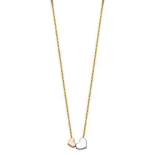 14K Gold Fancy Heart Necklace