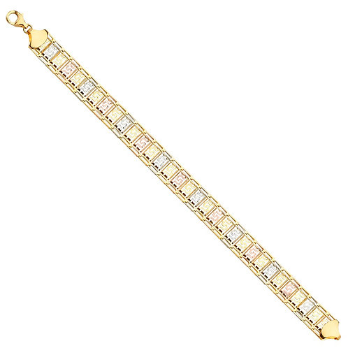 14K 3Color Fancy Bracelet