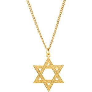 24K Yellow Gold-Plated Sterling Silver 32.77x25.9 mm Star of David Pendant