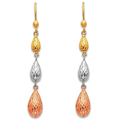 14K 3C Hanging Earrings