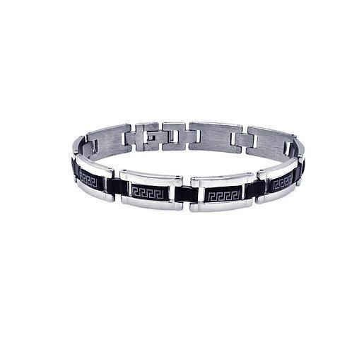 Stainless Steel Black Celtic Design Men's Bracelet