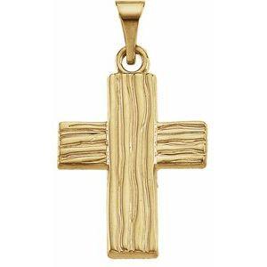 10K Yellow 18x14.5 mm The Rugged Cross® Pendant