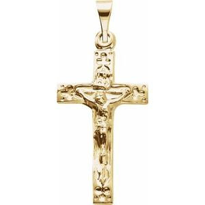 14K Yellow 20x12 mm Crucifix Pendant