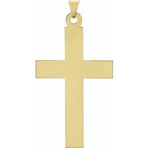 14K Yellow 39x25 mm Cross Pendant