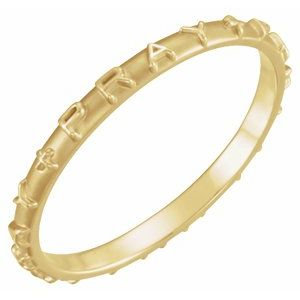 14K Yellow Pray Ring Size 7