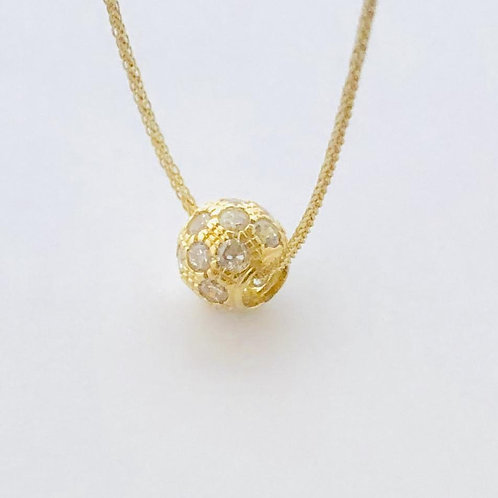 Fireball Cubic Zirconia Necklace in 14k Yellow Gold