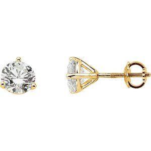 14K Yellow 1/5 CTW Diamond Stud Earrings