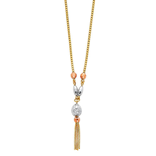 14K Multi Color Gold Fancy Necklace