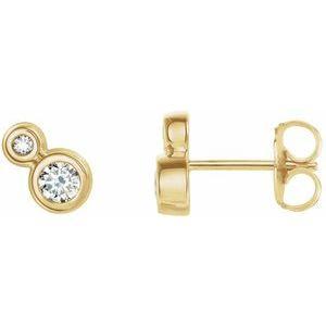 14K Yellow 1/4 CTW Diamond Earrings