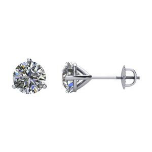 14K White 1/4 CTW Diamond Stud Earrings