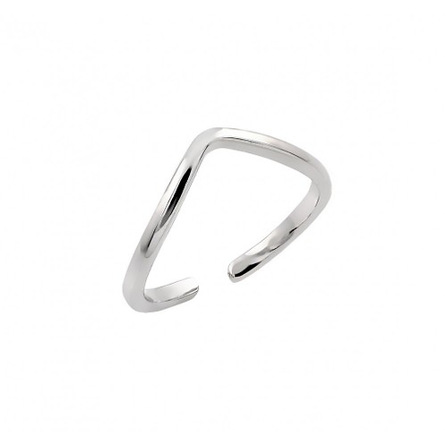 925 Rhodium Plated Open End Toe Ring