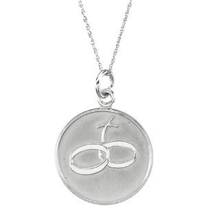 Sterling Silver Loss of a Spouse Pendant