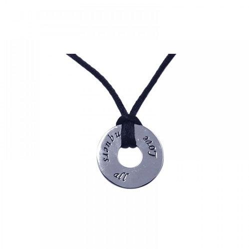 925 Rhodium Plated Medallion Pendant Necklace