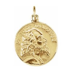 14K Yellow 15 mm St. Jude Thaddeus Medal