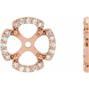 14K Rose 1/5 CTW Diamond Earring Jackets