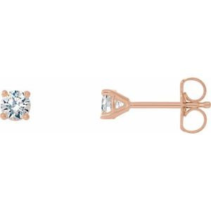14K Rose 1/3 CTW Diamond 4-Prong Cocktail-Style Earrings