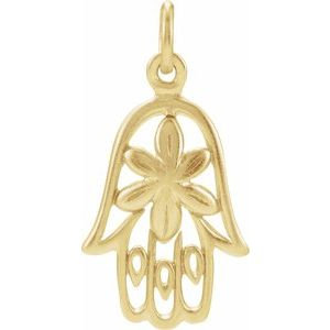 Sterling Silver Plated with 24K Gold Hamsa Charm