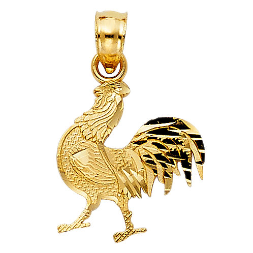 14KY ROOSTER PENDANT