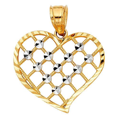 14KT HEART PENDANT (PT426)
