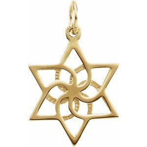 14K Yellow 16.5x14.75 mm Star of David Pendant